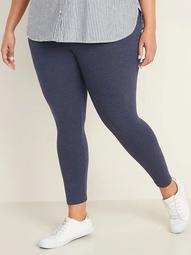 High-Waisted Full-Length Plus-Size Jersey Space-Dye Leggings
