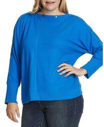 Women's Plus Size Dolman Sleeve Cozy Top