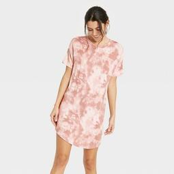 Women's Tie-Dye Short Sleeve Beautifully Soft Nightgown - Stars Above™ Pink