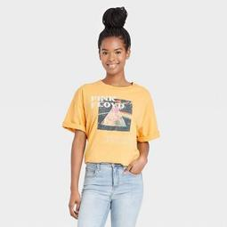 Women's Pink Floyd Oversized Short Sleeve Graphic T-Shirt - Yellow