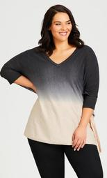 Bree Ombre Sweater - oatmeal