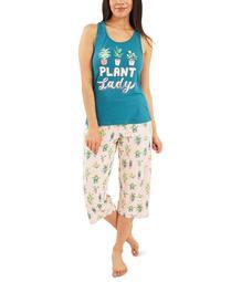 Plant Lady Capri Pajamas Set