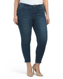 Plus Mid Rise Denim Skinny Jeans