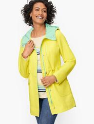 Hooded Canvas Anorak - Colorblock