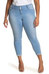 3-Button Midrise Skinny Jeans