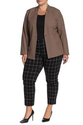 Alex Windowpane Ponte Slim Leg Pants