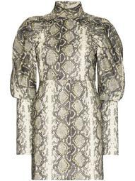 Kim snake-print dress