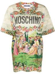 tapestry-print cotton T-shirt