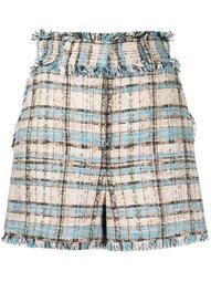 tweed high-rise shorts