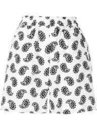 paisley-print elasticated shorts