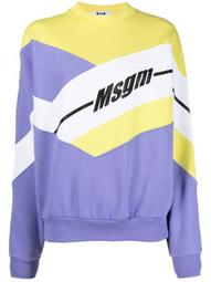 abstract-print long-sleeve sweatshirt