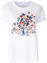 peacock-eye print t-shirt