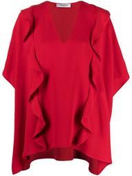 ruffled drape blouse