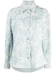 floral-pattern long-sleeve shirt
