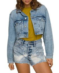 Cropped Denim Jacket in Blue550