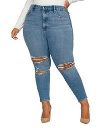 Good Legs Ripped Skinny Jeans in Blue617