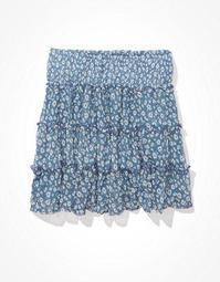 AE Mesh Tiered Mini Skirt