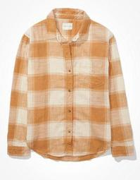 AE Oversized Plaid Flannel Shirt