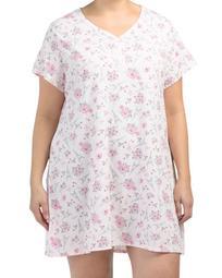 Plus Short Sleeve Paris Sleepshirt