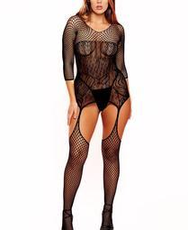 Plus Size One Piece Elegant Lingerie Body Stocking