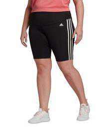 Plus Size High-Rise Short Sport Tights