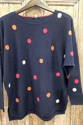 Dolman sleeve dotted pullover