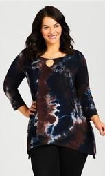 Tie Dye Cage Top - midnight