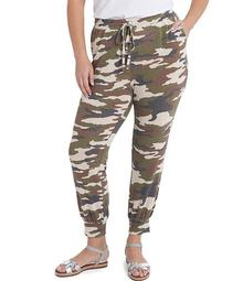 Plus Size Pull-On Camouflage Jogger