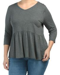 Plus Made In Usa Babydoll Top