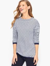 Drawstring Cotton Pullover