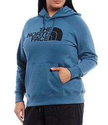 Plus Size Half Dome Pullover Hoodie