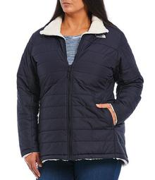 Plus Size Mossbud Insulated Reversible Jacket