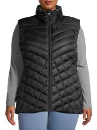 Big Chill Women's Plus Size Chevron Quilted Puffer Vest