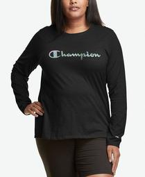 Plus Size Logo Long-Sleeve Top