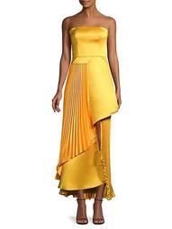 Edith Duchess Satin Strapless Gown