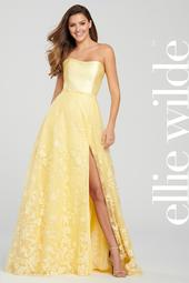 ew119007 - Strapless A-Line Gown