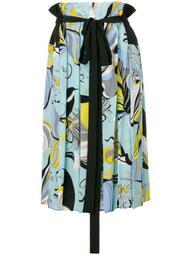 Frida Print Pleated Skirt