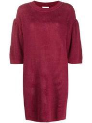 knitted short-sleeve dress
