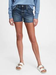 "3"" Mid Rise Denim Shorts"