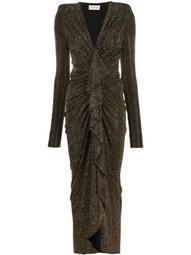 studded draped maxi dress