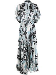 high-neck graphic-print maxi dress