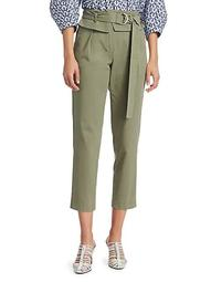 Malia High-Rise Paperbag Cropped Pants