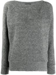 fine-knit boat-neck jumper