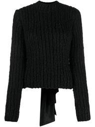 draped bow jumper