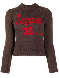 intarsia logo knitted jumper