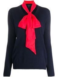 neck-tie V-neck jumper