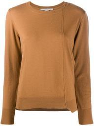 asymmetric seam-detail jumper
