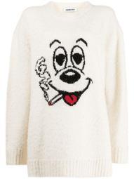 oversized intarsia-knit jumper