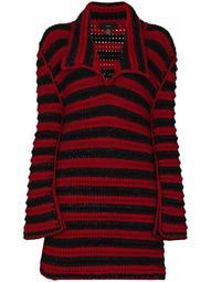 crochet striped maxi jumper