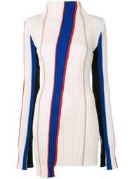 striped asymmetrical jumper